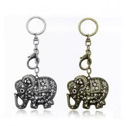 厂家直销 外贸首饰 高贵奢华满钻复古大象钥匙扣-速卖通 2628