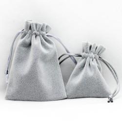 广州做工精细加厚灰色绒布袋束口抽绳高档饰品袋批发 可定制加LOGO 6067