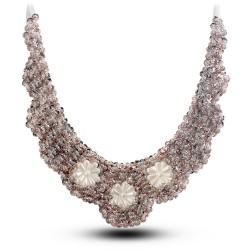 纯手工制作假领子 爆款 珍珠太阳花 项链 衣领 高档-【绝美公主】5003-56