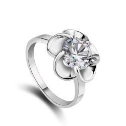 千族银 银饰品牌  时尚气质超闪 八心八箭锆石925戒指女款婚戒2014122