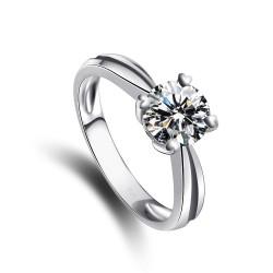 千族银 银饰品牌  高质量浪漫奢华气质八心八箭925锆石戒指2014123