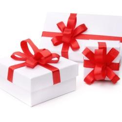 高档礼盒批发礼品盒红色丝带蝴蝶结拉花白色高档礼品盒情人节礼物送节日女友6069