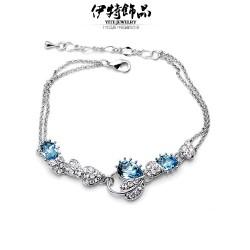 韩国时尚流行手链 天使泪水滴手链 奥地利水晶手链-相思叶5668