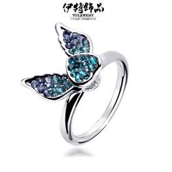 义乌实力厂家 韩国饰品小巧可爱闪钻天使翅膀戒指 指环批发 满包邮 5673