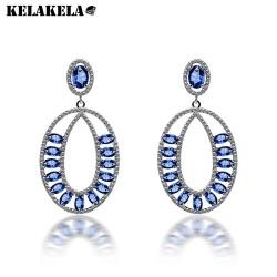 KELAKELA 夸张环形耳钉 镶嵌锆石工艺 欧美时尚耳环 K190