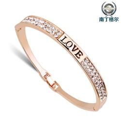 南丁格尔 高端手饰品牌 韩版时尚简约画油手镯 <LOVE>爱的供养 N272