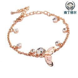 南丁格尔 高端首饰品牌 速卖通货源 欧美时尚新款 蝴蝶手链 送女友礼物 N279