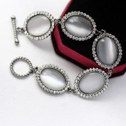 南丁格尔 高端手饰品牌 猫眼石手链  送女友礼物 外贸批发 N285