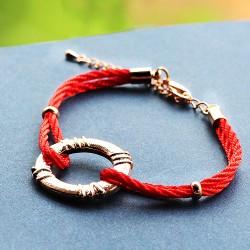 南丁格尔 高端手饰品牌  民族风个性 圆环 红绳手链 N282-43