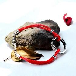 南丁格尔 高端手饰品牌 圆环 复古红绳 民族个性风 N286