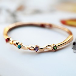 南丁格尔 高端手饰品牌 莫比乌斯环 厂家直销 合金镶钻 N283-74