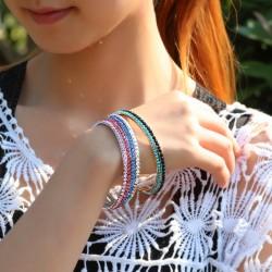 南丁格尔 高端手饰品牌 义乌饰品厂家直销满钻时尚小巧手镯-时尚女王 N287