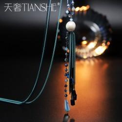 天奢TIANSHE 高档优雅气质时尚百搭流苏毛衣链 长款项链韩国饰品 2015760