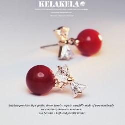 KELAKELA 时尚气质百搭潮流锆石耳环耳钉 小可爱 K207