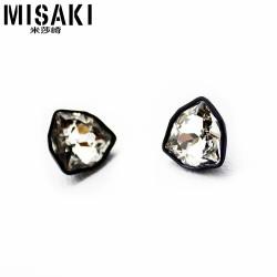 MISAKI米莎崎 韩国时尚饰品 潮人必备 海外进口高档水晶耳钉 M031