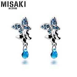 MISAKI米莎崎 韩版新款耳钉 时尚爆款 个性创意蝴蝶翩飞 潮流耳钉 M030