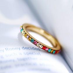 2018年流行饰品 日韩创意简约满圈钻戒指 小清新个性百搭配饰 女 1870