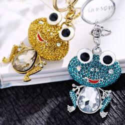 高档水晶可爱大青蛙车钥匙扣 包包扣 日常百搭配件 1938