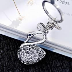 高档天鹅湖水晶创意设计时尚精品钥匙扣 包包扣 1942