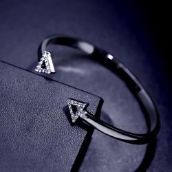 南丁格尔首饰 简约双三角形开口手镯 日韩欧美气质百搭款式 女 N304