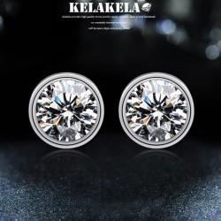 KALAKALA品牌首饰 高档简约水晶锆石耳钉饰品 时尚个性耳配饰 女 K313
