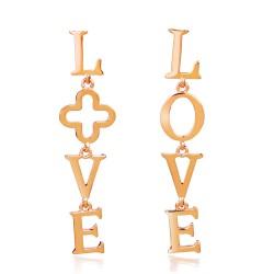 安东尼品牌外贸首饰 韩版个性时尚LOVE字母不对称耳环耳钉耳饰 A010-80
