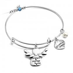 安东尼品牌外贸首饰 时尚刻字母翅膀天使吊坠手镯 女 A138-48