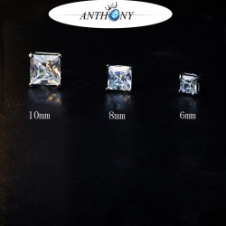 安东尼品牌外贸首饰 个性时尚无耳洞吸铁石锆石磁铁耳钉耳饰 A116