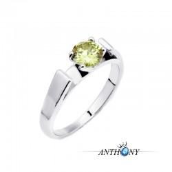 安东尼品牌外贸首饰 时尚复古绿色圆锆石戒指结婚礼物 A207-65