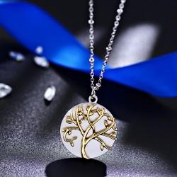 安东尼品牌外贸首饰 欧美复古黄金树圆形吊坠项链 女 A183-53