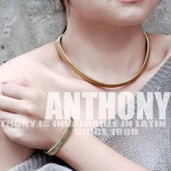 安东尼品牌外贸首饰 个性别致欧美风复古钛钢项链手链不锈钢套装配饰 女 A275