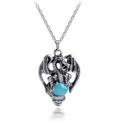 安东尼品牌外贸首饰 欧美时尚复古西方龙水晶吊坠 朋克情侣项链 A1003-42