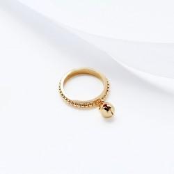韩版简约时尚个性铃铛吊坠可爱小圆珠戒指 百搭女 3703-28