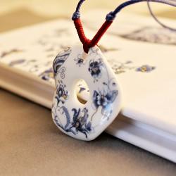 景泰蓝陶瓷挂坠 少数民族风配饰 车上小挂件饰品 3372-19