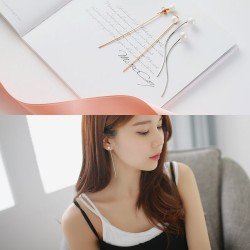 夏季时尚新品耳饰 流苏耳线珍珠耳钉搭配饰品 韩国气质款式 个性女 HG027