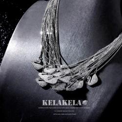 KELAKELA品牌首饰 高档锆石简约天鹅吊坠项链锁骨链 气质送女友礼物 K323-98