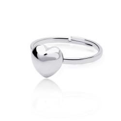 厂家定做 韩版饰品 精致小巧光面桃心开口戒指 可爱迷你心形尾戒 5436-20