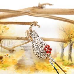 个性满钻水晶小葫芦胸针 精致小巧花生别针 创意服装配饰品 9546-65