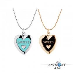 安东尼品牌外贸首饰 时尚刻字母SWEET心形相盒可放照片 项链 A89-39