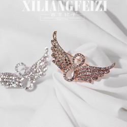 西凉妃子 满钻翅膀无限符号创意胸针别针 气质百搭服装饰品 女 X709-89