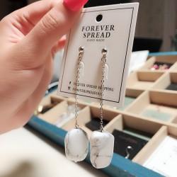 欧美外贸新款气质石头耳环 时尚不规则耳饰品女 8116-60