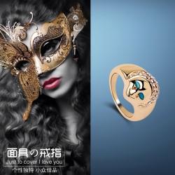 日韩饰品创意抽象人脸戒指 女 食指指环个性装饰戒 8127-33