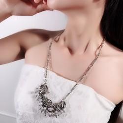 个性时尚水滴形珍珠超闪项链 气质高贵流苏毛衣链 2180-49