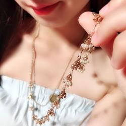 速卖通潮款货源批发 珍珠散花满天星长款双层项链 毛衣链 女 1716-101