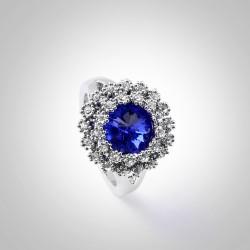 欧美个性夸张精美小花朵椭圆形戒指 送女友礼物 4346-40
