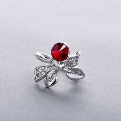 韩版创意百搭相思叶戒指指环批发水晶戒指 4330-30