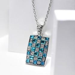 欧美气质个性满钻水晶项链吊坠 长款锁骨链饰品女 4793-62
