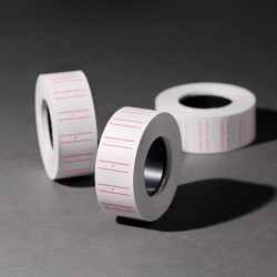 批发商品标价签白色单排标价纸标价机打价纸打码纸标签纸 8134