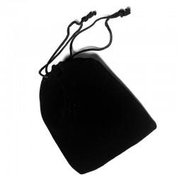 精细加厚黑色绒布袋束口抽绳高档饰品袋便携防尘旅行袋批发 8150