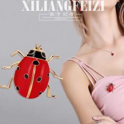 西凉妃子 个性创意卡通新款胸针 时尚韩版七星瓢虫女士 胸花别针 X1009-68